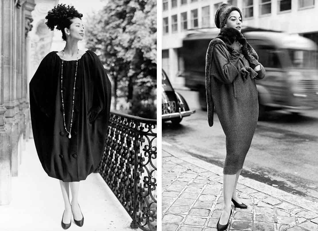 Sack dress and coat 1958