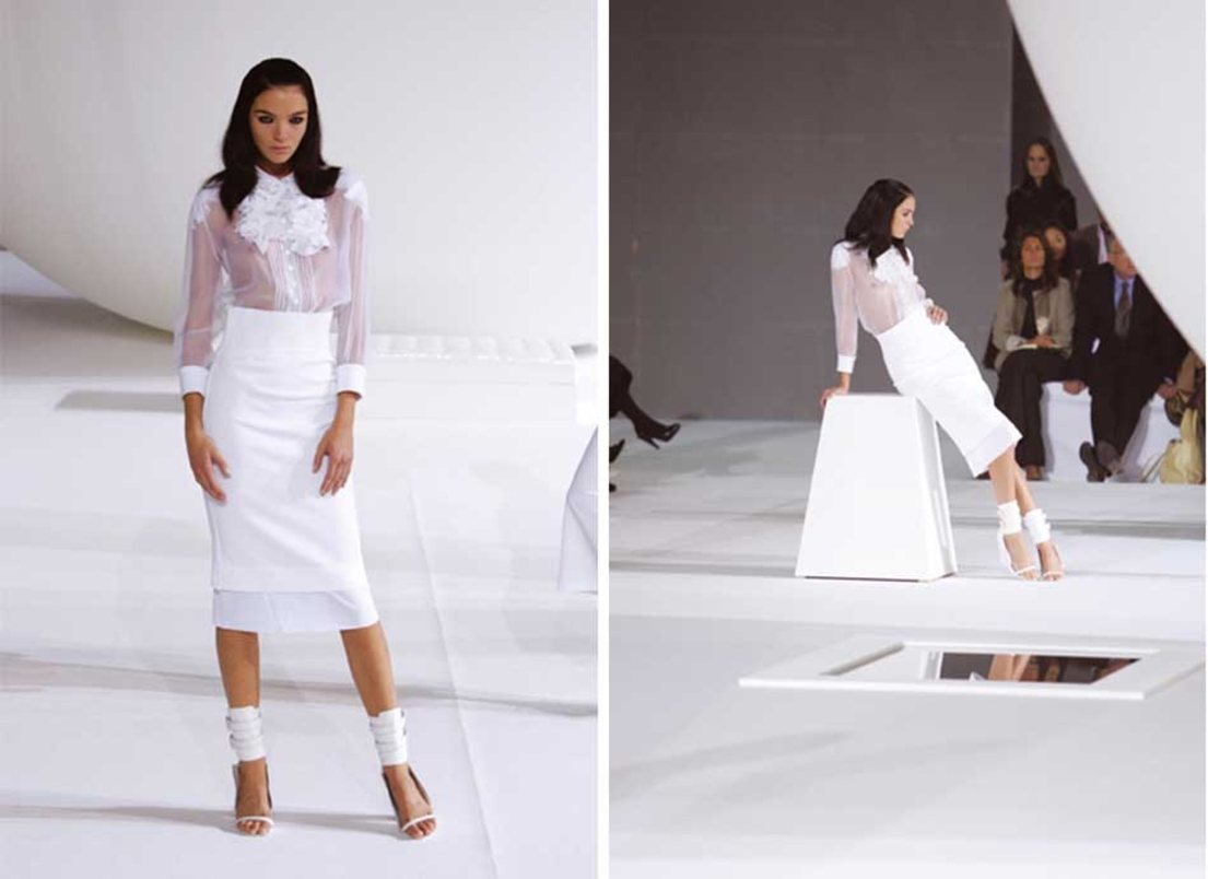 Givenchy designer Riccardo Tisci's first women's wear collection