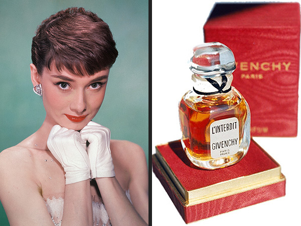 """Audrey Hepburn is the spokesperson for Givenchy's fragrance """"L'interdit"""""""