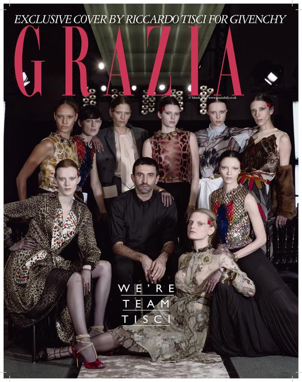 Riccardo Tisci on the cover of Grazia magazine