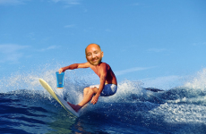 dave lackie surfing image