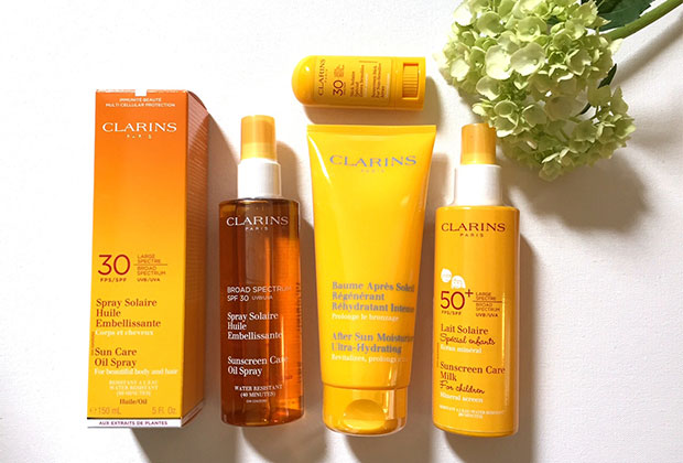clarins newsletter sunscreen prize