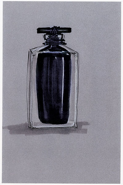 narciso bottle sketch