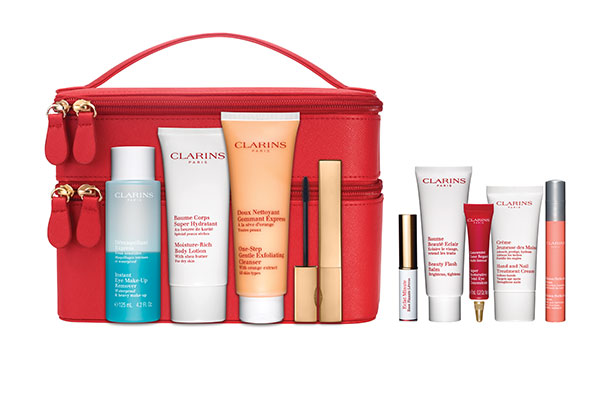 clarins holiday purchase with purchase offer