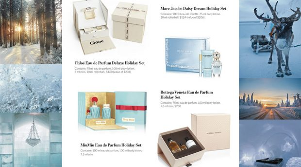 coty holiday gift set spread