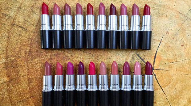 MAC's top 20 lipstick shades