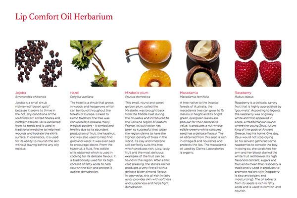 Clarins comfort lip oil ingredients