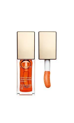 clarins lip comfort oil in tangerine