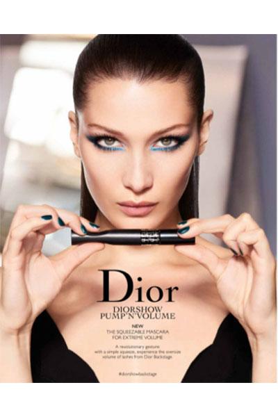 dior pump'n'volume mascara ad