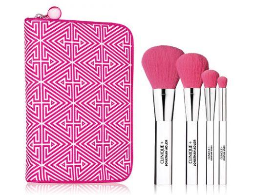 clinique + jonathan adler makeup brush set