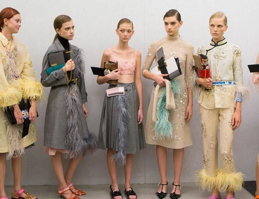 prada spring 17 fashion backstage