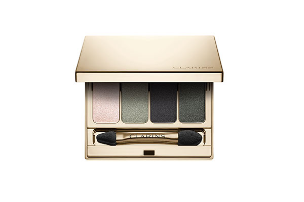 Clarins 4-colour eyeshadow palette in forest