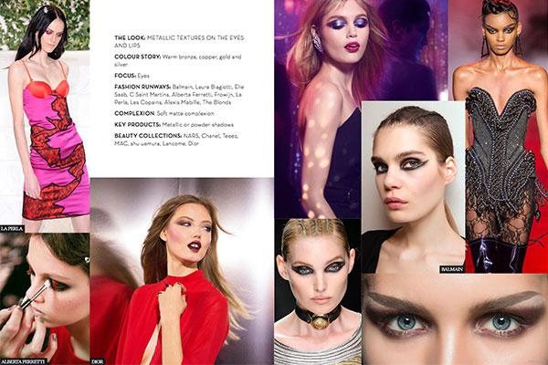metallic beauty trend