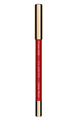 clarins lipliner pencil in red