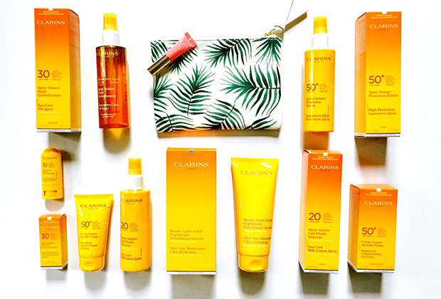 Clarins sun products