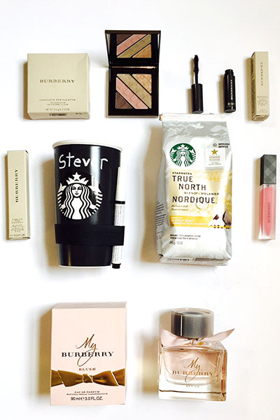 #StarbucksAtHome + Burberry Beauty