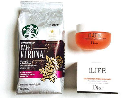 #StarbucksAtHome caffe verona and dior jelly mask