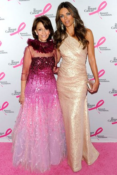 evelyn Lauder and elizabeth hurley