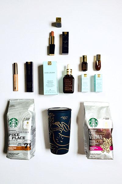#StarbucksAtHome + estee lauder ANR set