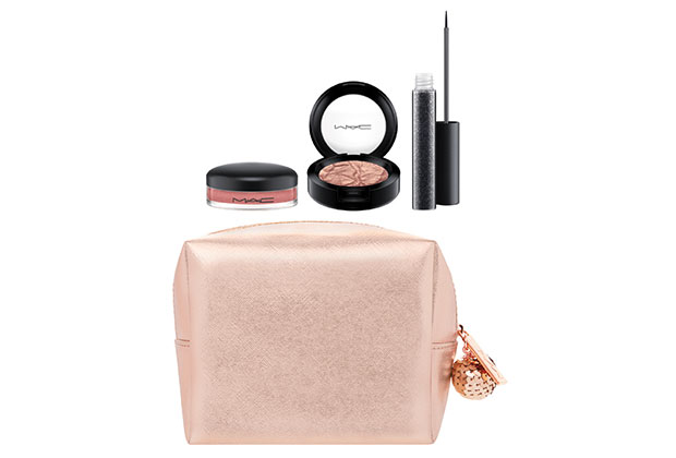 MAC snow ball eye & lip bag in rose gold