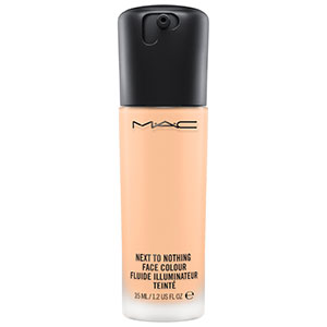 mac next to nothing face colour in light