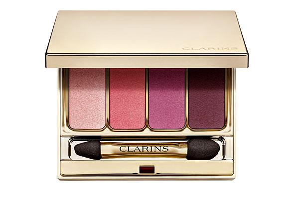 clarins eyeshadow palette in pink