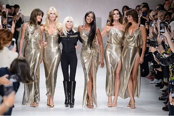 donatella versace and supermodels