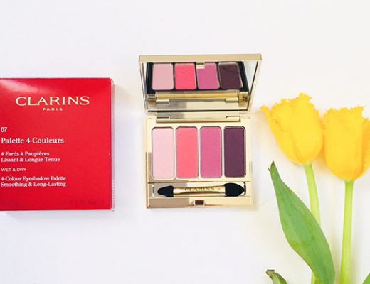 clarins 4-colour eyeshadow palette in lovely rose