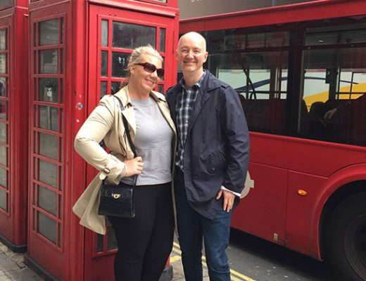nina westbury and dave lackie in london