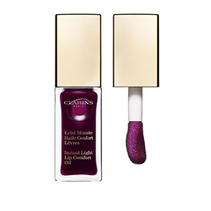 clarins lip comfort oil in blackcurrant
