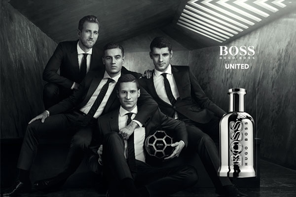 Boss Bottled United ad campaign