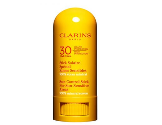 Clarins sunscreen stick for sun-sensitive areas