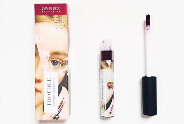 teeez trouble kissproof liquid lipstick in subversive plum