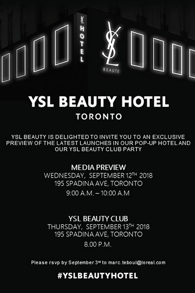 ysl beauty invitation