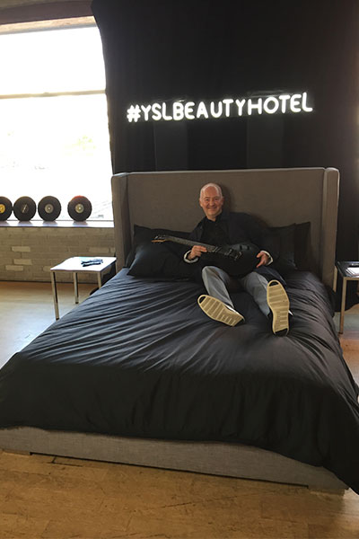 dave lackie at YSL Beauty Hotel