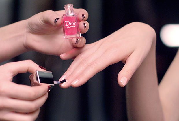 Dior nail glow image