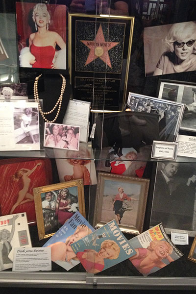 marilyn monroe display
