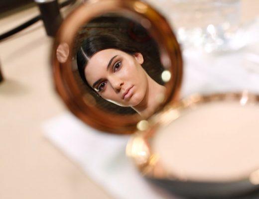 model in mirror
