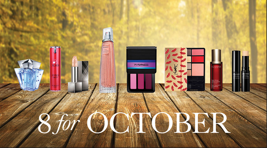 8 for october - beauty products