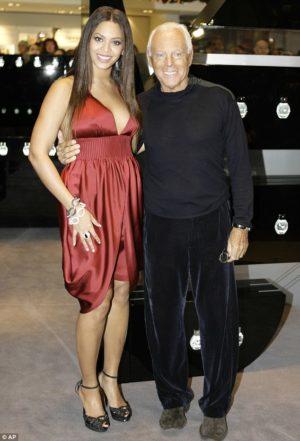 Armani with Beyoncé