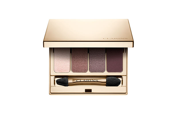clarins 4-colour eyeshadow palette in rosewood