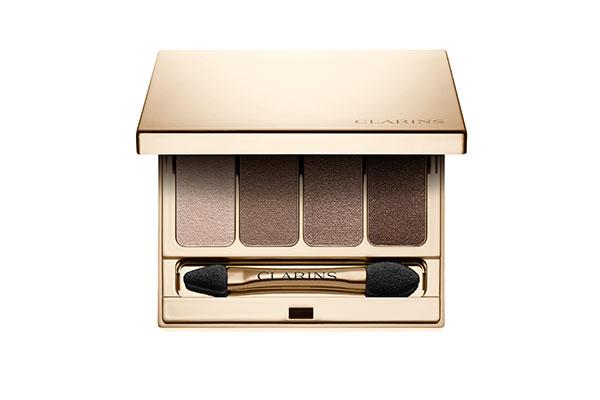 clarins 4-colour eyeshadow palette in brown