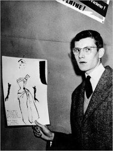 yves-saint-laurent-1954-cocktail-dress-sketch