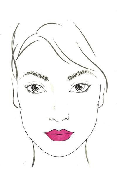 lancome lip pout chart