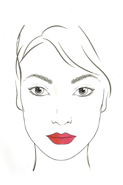 lancome lip chart cupid's bow