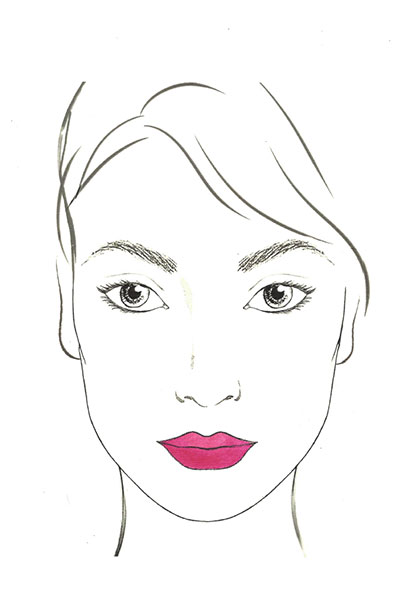 Lancome rose lip design