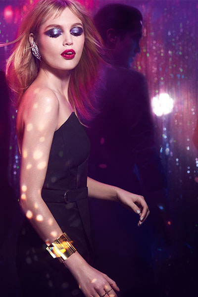 ysl night 54 makeup collection model