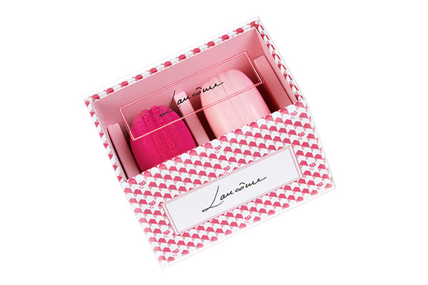 lancome macaron blush & blender set