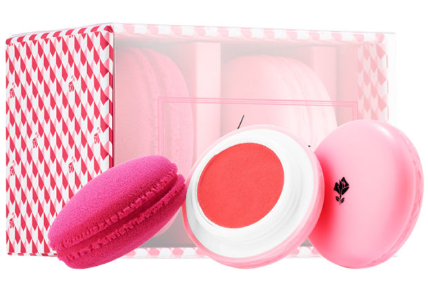 lancome macaraon blush and blender set