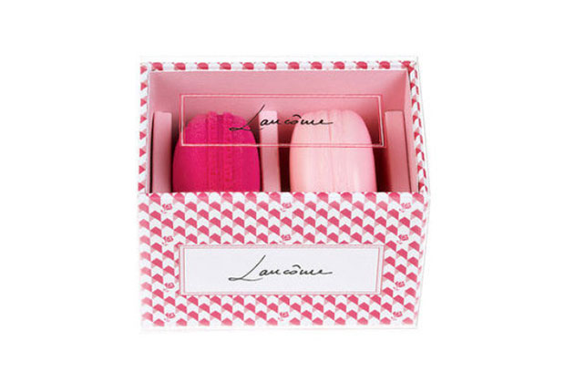 lancome macaron blush and blender set